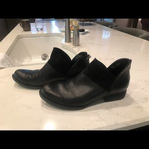 Born black booties.  Leather/suede